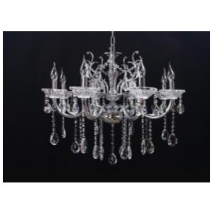 Lampadario a 6 luci color argento