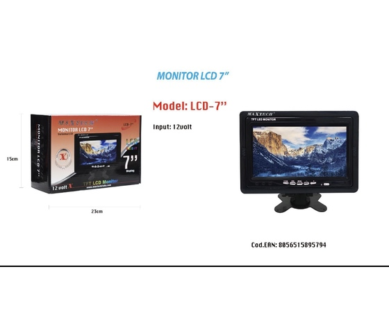 """Monitor da 7"""" marca Maxtech"""