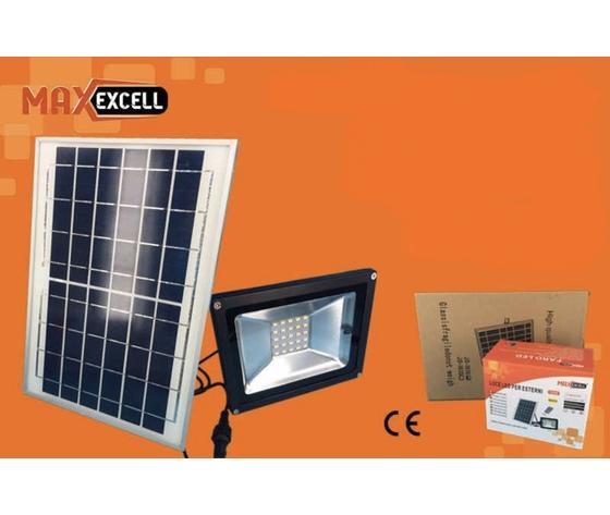 Faretto con pannello solare