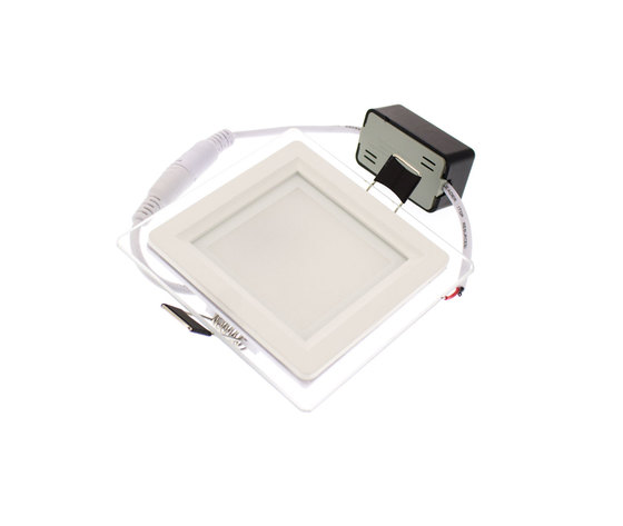 Faretto Led quadrato con vetro a 6w (3000k)
