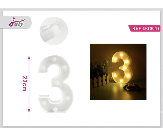 LETTERA A LED 3