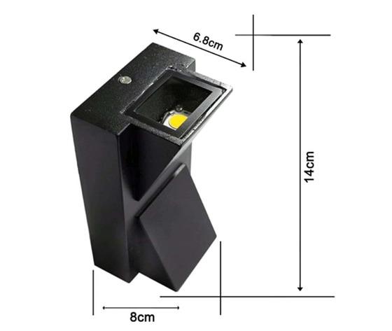 Applique con luce superiore e inferiore 10w (4000k)