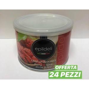 Epildeli - Cera Liposolubile Bacche di Goji 400 ml 24 pz