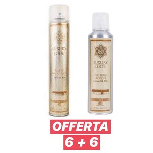 Luxury Look - 6 pz Misty Hair Spray 500 ml + 6 pz Eco Hair Lacquer 250 ml