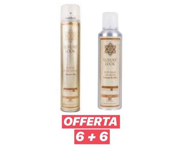 Luxury Look - 6 pz Misty Hair Spray 500 ml + 6 pz Eco Hair Lacquer 250 ml