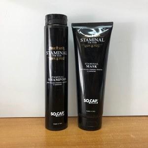 Socap - Kit ristrutturante con cellule staminali vegetali e cheratina Shampoo + Maschera Staminal