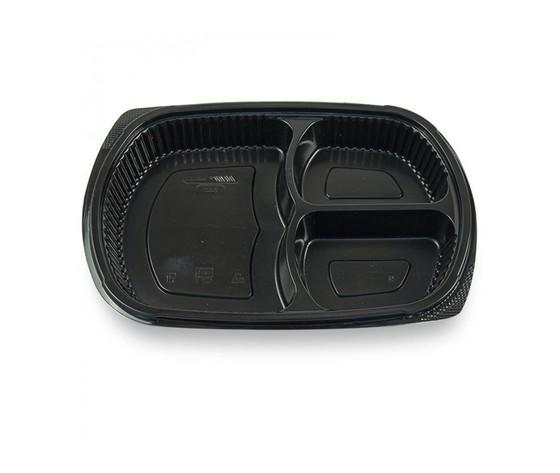 Vaschetta nera 9400C  3 scomparti per microonde