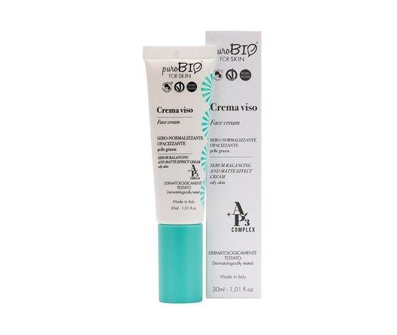 Crema viso sebo-normalizzante opacizzante puroBio