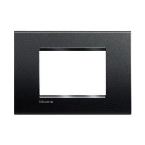 PLACCA QUADRA  A TRE MODULI SERIE LIVING LIGHT