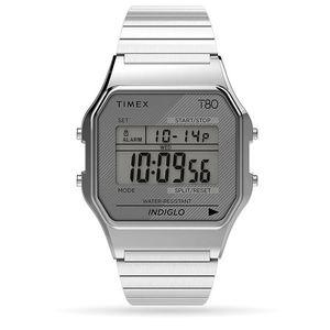 TIMEX T 80 QUARTZ 34 MM ACCIAIO TW2R79100U8
