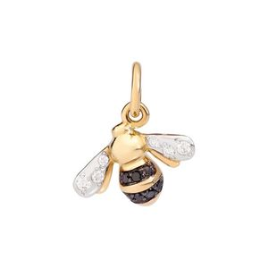 APE ORO GIALLO 18KT E DIAMANTI BLACK DODO