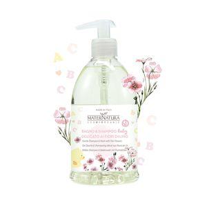 Bagno e Shampoo Delicato ai Fiori di Lino Bambini 500ml