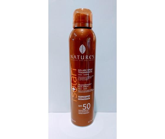 SPRAY SOLARE TRASPARENTE SPF 50 + NATURE'S 200 ml