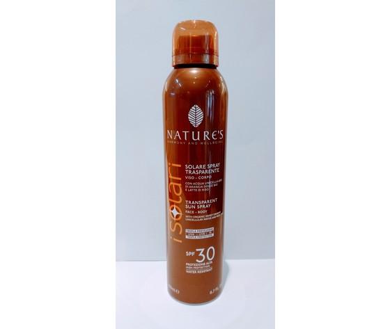 SPRAY SOLARE TRASPARENTE SPF 30 + NATURE'S 200 ml