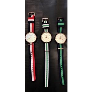 Orologio Squadra/Compasso tondo cinturino a righe