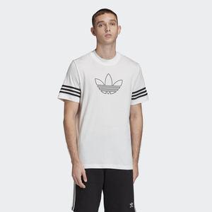 T-shirt bianca Adidas outline logo nero art. FM3894