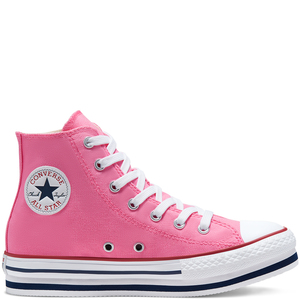 Converse Platform  Chuck Taylor Rosa- Pink All Star High Top  Bambina ART. 668027C