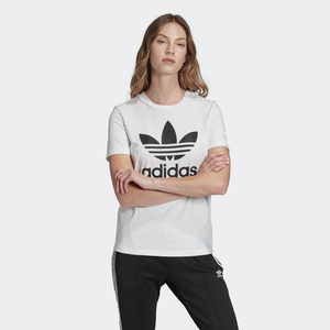 T-shirt Bianca Adidas Donna Trefoil Nero Essentials art. FM3306