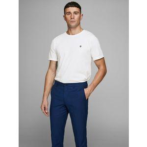 T-shirt Girocollo Bianco Uomo Premium Cotone Strutturato Nido D'Ape Jack&Jones art. 12166527