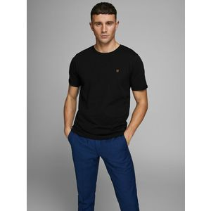 T-shirt Girocollo Nero Uomo Premium Cotone Strutturato Nido D'Ape Jack&Jones art. 12166527