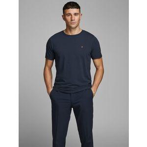 T-shirt Girocollo Blu Uomo Premium Cotone Strutturato Nido D'Ape Jack&Jones art. 12166527