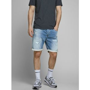 Bermuda Jeans uomo Jack&Jones Shorts Jeans Denim con risvolto  indigo art. 12166272