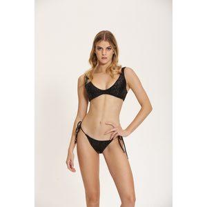 Bikini Cipria Corpetto Cotazur con Paillets art. CTZ0615 NERO