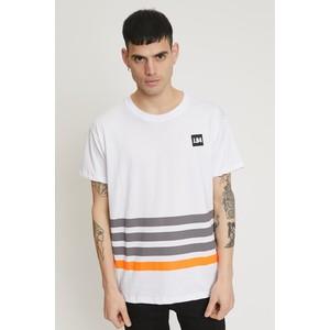 T-shirt uomo Bianca JB.4 con righe fluo e Patch art. MS044001 B