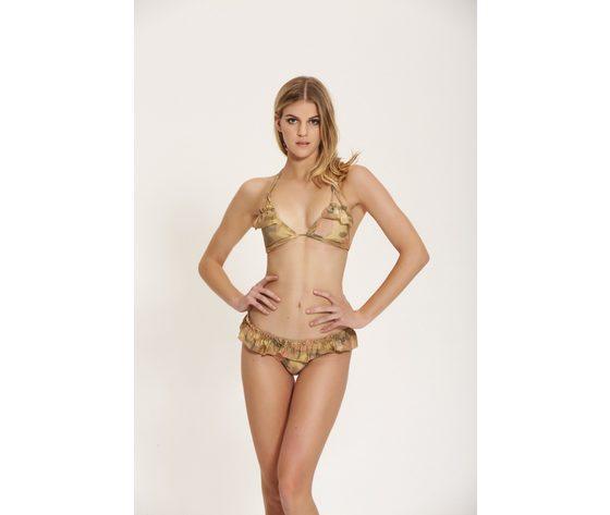 Bikini trangolo cotazur lurex mimetico art. ctz0569