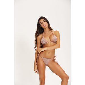 Bikini Triangolo Rame con Inserti Paillets Cotazur art. CTZ0616 RAME
