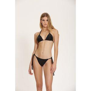 Bikini Triangolo Nero con Inserti Paillets Cotazur art. CTZ0616 NERO