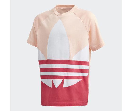 T  shirt adidas bambina rosa con logo frontale 4
