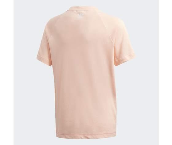 T  shirt adidas bambina rosa con logo frontale 1