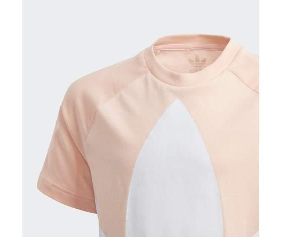T  shirt adidas bambina rosa con logo frontale 3