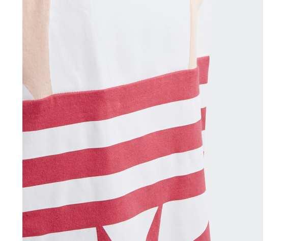 T  shirt adidas bambina rosa con logo frontale 2