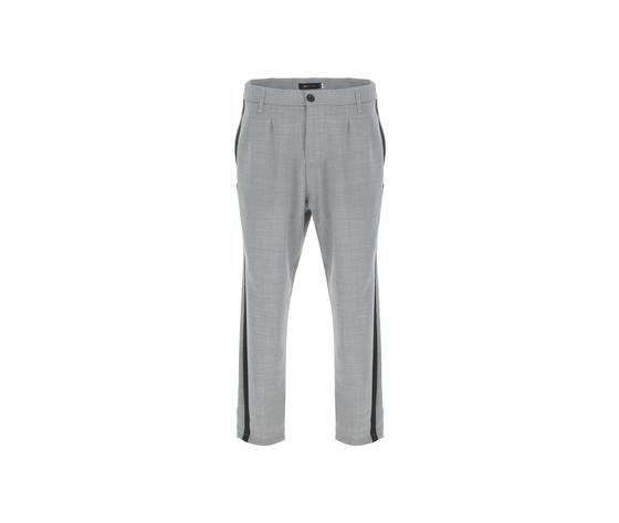 Pantalone uomo grigio con bande nere laterali misto lana imperial art. pc9kzajstn 4
