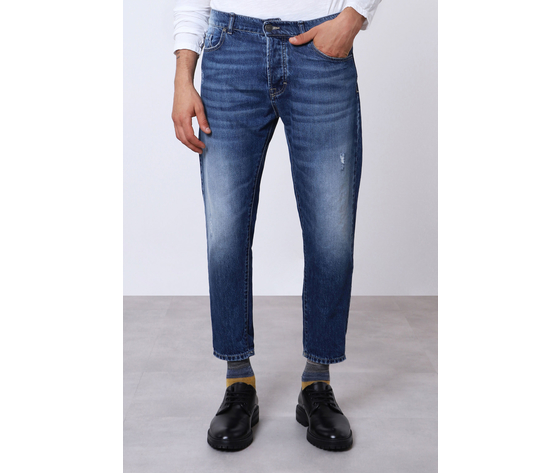 Jeans uomo blu d%c3%a9lav%c3%a9 cropped con abrasioni imperial art. p372mlud49