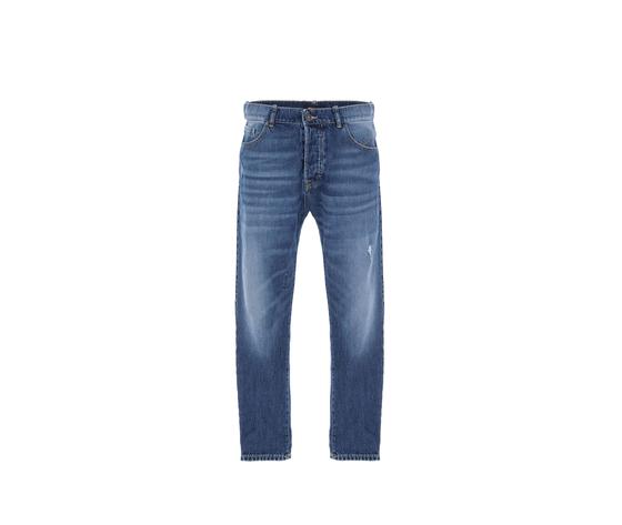 Jeans uomo blu d%c3%a9lav%c3%a9 cropped con abrasioni imperial art. p372mlud49 3