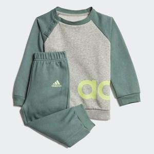 Completo Tuta Adidas Bambino Linear Jogger Grigio- Verde Art. GD6172