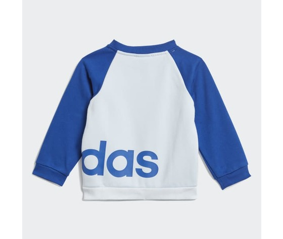 Tuta linear jogger adidas blu bambino  art. gd6169 1