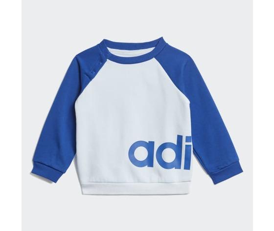 Tuta linear jogger adidas blu bambino  art. gd6169 2