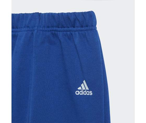 Tuta linear jogger adidas blu bambino  art. gd6169 4