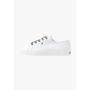 Tommy Hilfiger Scarpe Donna In Tela Basse Bianche Essential Nautical Sneakers art . FW0FW04848 YBS