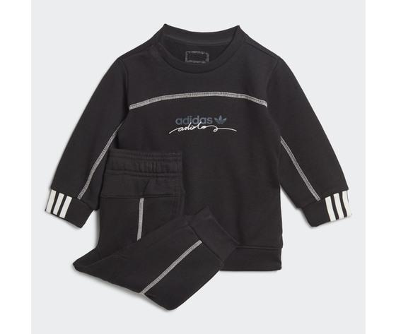 Completo tuta adidas nero bambino art. ge0642
