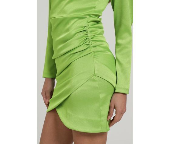 Abito corto con arriccio laterale verde lime marc ellis art. wmedr6882 3