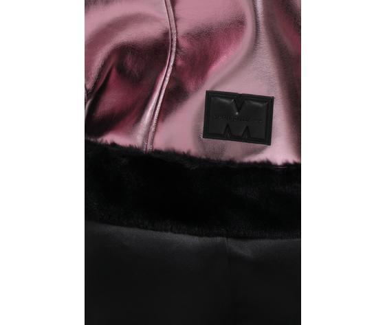 Giubbotto donna laminato rosa con pelliccia nera marc ellis art. wmejk6269 4
