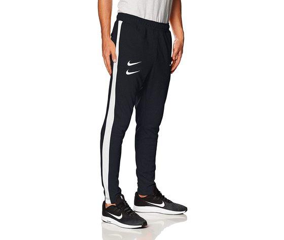 Pantalone nike nero doppio swoosh  con bande laterali art. cj4873 010 4