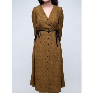 Abito Donna Leopardato Lungo Scollo A V Ambre Chemisier Con Cinturino FRNC Aelita Dress art. F11116