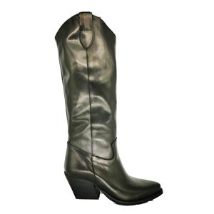 Stivale Alto Texano Donna In Pelle Nero ColBaffo® art. 600