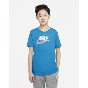 T-Shirt Azzurra Bambino Nike Sportwear art. AR5252 447